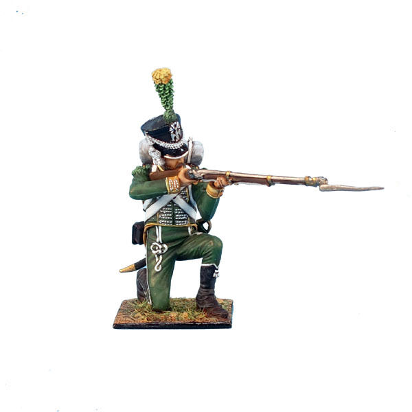 NAP0197 Westphallan Guard Chasseur Kneeling Firing by First Legion