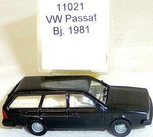 negro-raro-VW-PASSAT-BJ-1981-Imu-EUROMODELL-11021-H0-1-87-emb-orig-HO-1-a