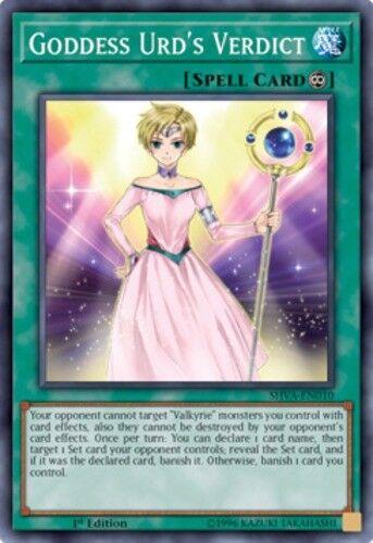 Goddess Urd/'s Verdict Yugioh 1st Edition Near Mint, Super Rare SHVA-EN010