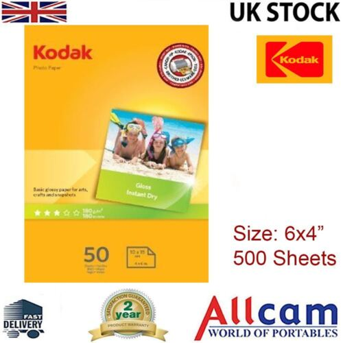 """Kodak Glossy Photo Paper 6x4/"""" 240gsm for All Inket Printers 500 sheets 10Pack"""