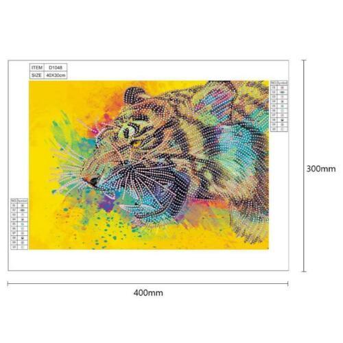 Kit de mosaico de costura de punto de cruz de animales en forma especial de