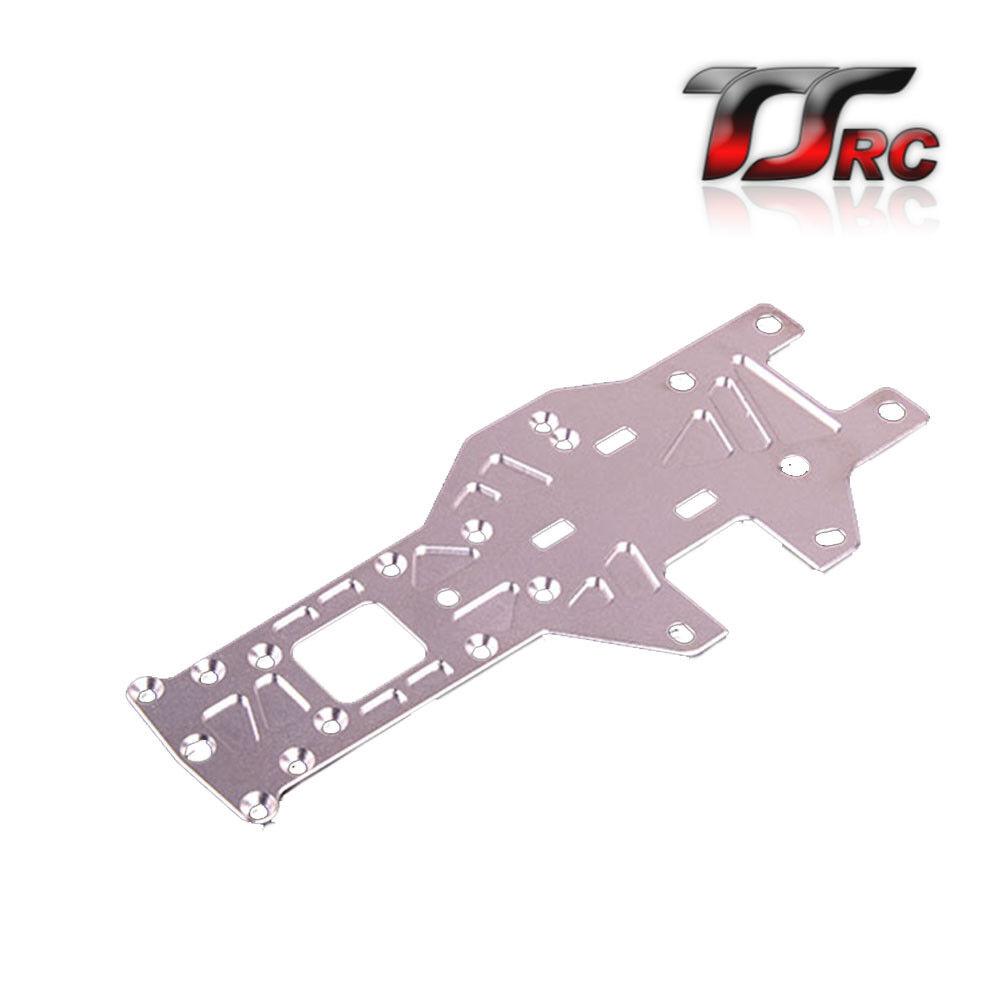 Placa de chasis de aleación CNC Trasero Grueso Plata Fit 1 5 Hpi Baja RV km 5B 5 T 5SC