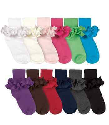 JEFFERIES Cotton Ankle Socks with Satin Ruffle Tutu 1 to 10 Years