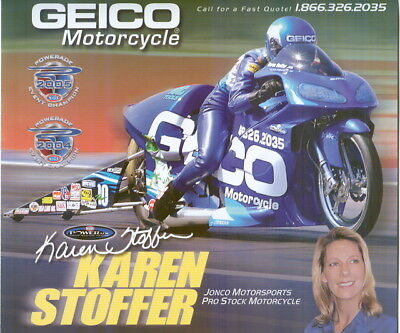 2019 KAREN STOFFER NHRA PRO MOTORCYLE HANDOUT POSTCARD