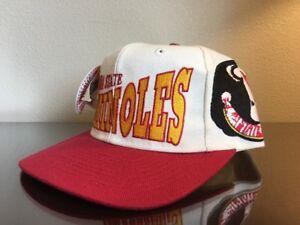 New-OG-Vintage-90s-Apex-One-Florida-State-Seminoles-Big-Logo-Hat-sz-7-1-8-White