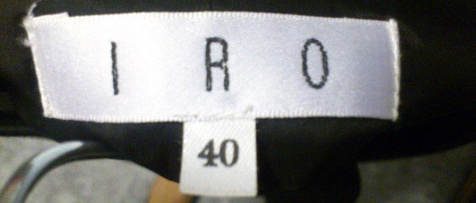 IRO Nero Lana & Cashmere drappeggiato gonna EUR 40 40 40 W30  in buonissima condizione 7d5191