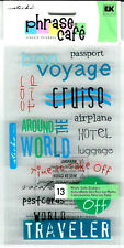 Stickers Vacation Sticko Phrase Cafe Clear Travel Bon Voyage Scrapbooking Crafts