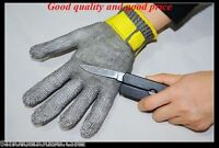 Adult Size Large Steel Mesh Safety Butcher Glove Meat Processor Usa Shipper