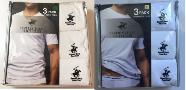 6ccb61bf ... reduced new mens beverly hills polo club 3 pk v neck t shirts 100 9e75b  34f76
