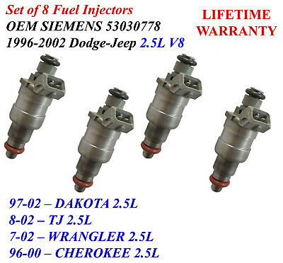 Fuel Injector for Dodge Ram 1500 Durango Jeep Cherokee Wrangler V8 L6 5.2L 4.0L