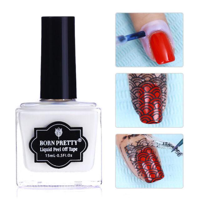 15ml Born Pretty Nail Peel Off Liquid Tape Cuticle Guard Nail Art Care Latex Gel