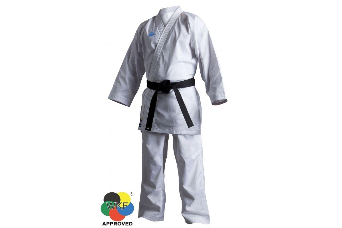 Adidas WKF Revoflex Kumite Karate GI Suit Uniform Mens Womens K140SK 7oz White