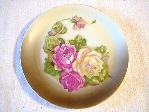 """Antique Manipulés Z S Et C Bavière, Floral Rose, Plaque/plateau Large 12 1/4"""", Nice-afficher Le Titre D'origine Rs0vqwoe-08003106-544551520"""