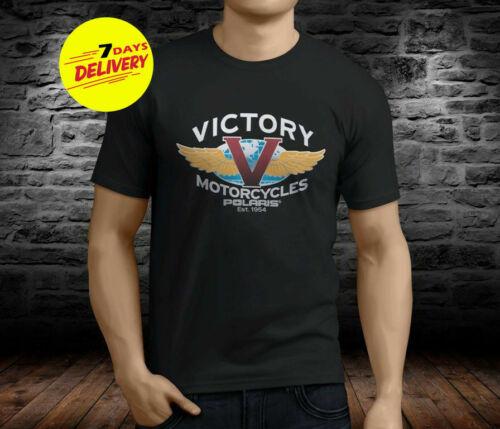 VICTORY MOTORCYCLES Black T-shirt Black Cotton Full Size Gildan Ultra Cotton