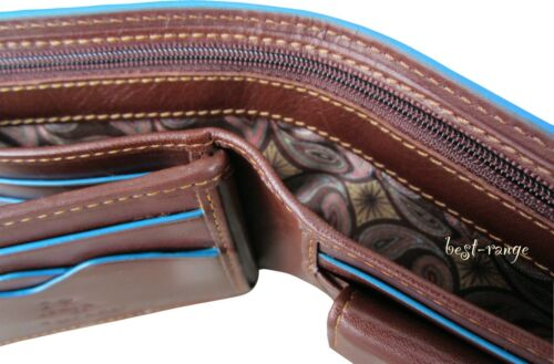 Mens Wallet Real Leather RFID Trifold Designer Visconti ALPS 86 New in Gift Box