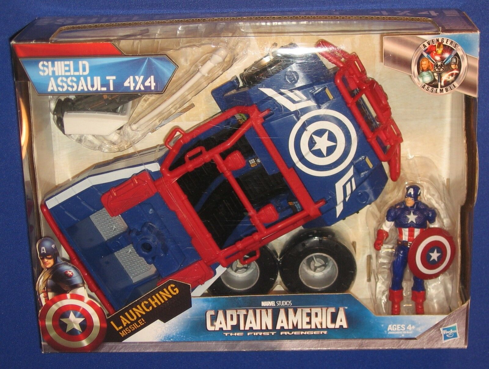 Marvel SHIELD Assault 4x4 Vehicle 2010 MIB Captain America 4  Action Figure Jeep