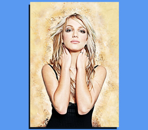 Ready To Hang Box Canvas: Britney Spears Various Sizes Grunge Art