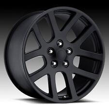 "22""x10"" Dodge RAM 1500 SRT10 Style Wheels Matte Black Rims Durango Dakota 24"