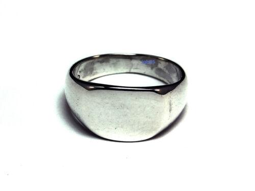 Nuevo Anillo de plata esterlina oval Signet horizontal 10mm 925 caracteriza tamaños Reino Unido