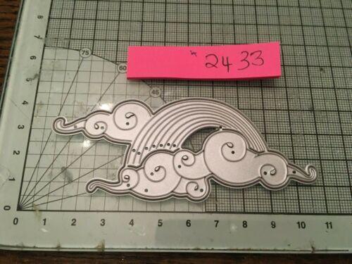 Arco iris y nubes con curvas y giros pequeño Die Set ref2433