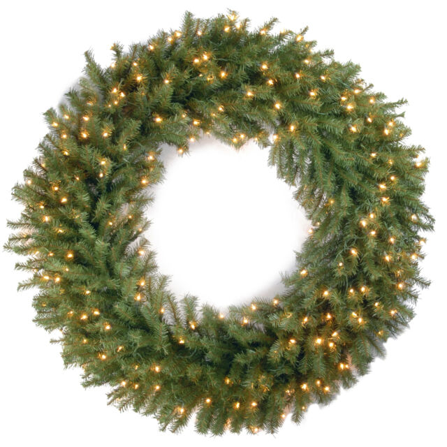 National Tree Company 48 Norwood Fir Wreath With 200 Clear Lights Christmas For Sale Online Ebay