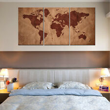 HD Canvas Print Picture Wall Art Painting Home decor World Map With Wood Frame
