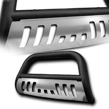 Matte Black Bull Bar Bumper Grille Guard+Chrome Skid 94-01/02 Ram 1500/2500/3500