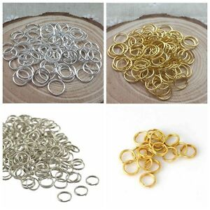 Silver-Gold-Plated-Open-Jump-Rings-Connector-Jewelry-Findings-4-5-6-7-8-9-10mm