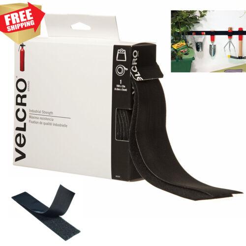 """VELCRO Brand Industrial Strength 4 FT Sticky Back Black Tape 2/"""" x 4/' Duty Hook"""