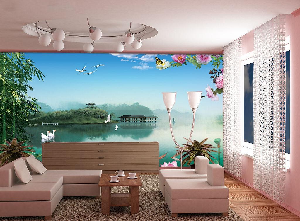 3D Sofortige Landschaft 255 Fototapeten Wandbild Fototapete BildTapete Familie