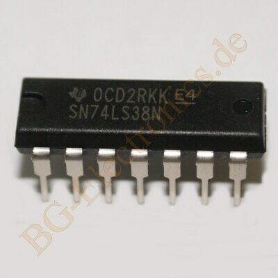 SN74LS38N Quad 2-input positive-NAND buffers with open col TI DIP-14