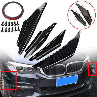 4Pcs Universal Car Front Bumper Lip Splitter Fins Body Spoiler Canards Refit Kit