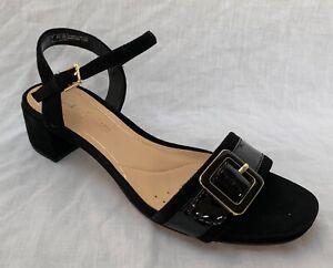 93532185a1e Image is loading BNIB-Clarks-Ladies-Orabella-Shine-Black-Combi-Leather-