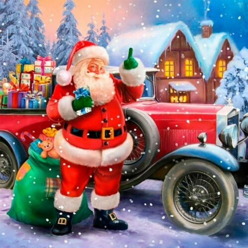 Santa Claus Full Drill Diamond Painting Cars Presents DIY 5D Cross Stitch Kit