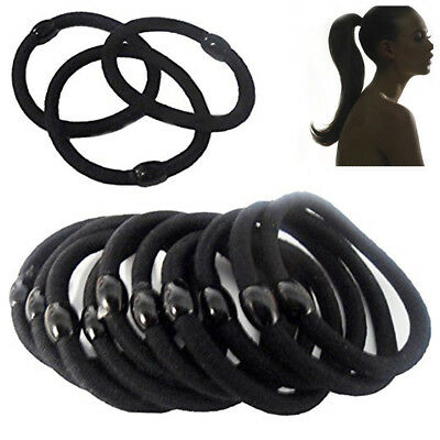 Hair Bobbles Elastic Stretchy Band Women Hairbands Ponytail UP Thick Snag Rubber