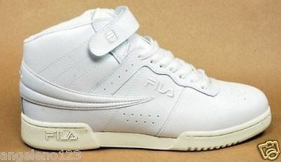 FILA Men F-13 Shoes Hi Top Basketball Athletic Sneakers Leather White 1VF059LX
