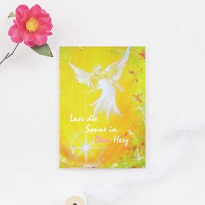 Genesungskarte-034-Lass-die-Sonne-in-Dein-Herz-034-Beste-Wuensche-Grusskarte-Postkarte