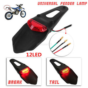 moto-universel-LED-Feu-arriere-Garde-Boue-ENDURO-stop-lampe-CRF-KTM-sauf-haut
