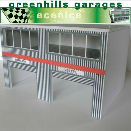 Greenhills Scalextric Slot Car Building Modern Pit Boxes Kit 1 32 Scale - Bra...