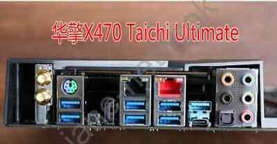 1PCS IO BACK PLATE FOR  X470 Taichi