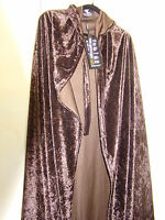Von Lancelot Brown Plush Renaissance Medieval Cosplay Cape Hood Costume 58