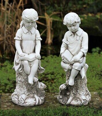 Garden Ornament Boy Girl Loving, Cherub Garden Statues Australia