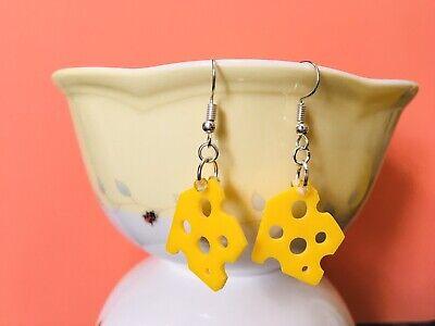 Cheese Slice Drop Earrings