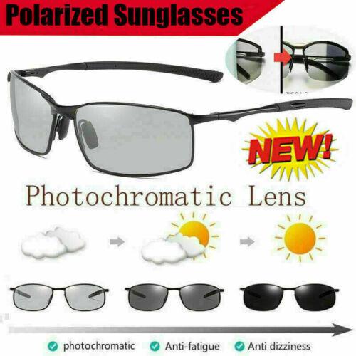 Brainart Men/'s Photochromic Sunglasses with Polarized Lens New