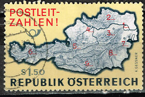 Austria Country Map stamp 1959