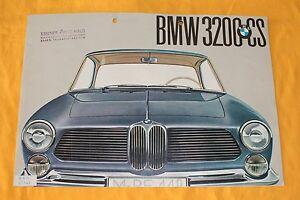 BMW-3200-CS-Original-1961-Prospekt-Brochure-Catalogue-Depliant-Prospetto-Bertone