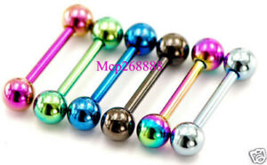 6-Pc-14G-1-2-034-5-mm-Ball-Shorter-Length-Titanium-Tongue-Ring-Tragus-Barbells