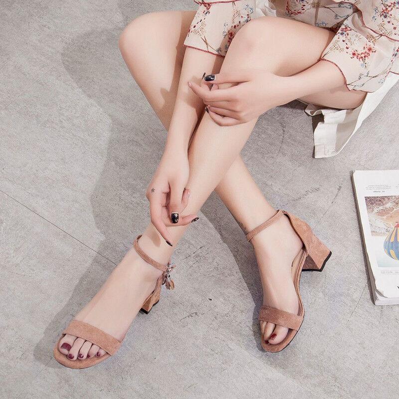 Sandales 5 cm Élégant Beige Talon Carré Sandales Cuir Synthetique 1102