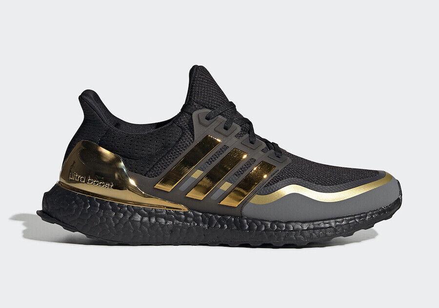 Adidas Herren Ultra Boost Core Schwarz Gold Metallic Grau EG8102
