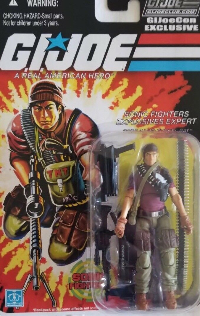 Joecon 2018 GIJOE CONVENTION SonIc Fighter Tunnel Rat Carded Figure